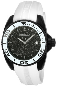 Invicta Women's 22705 Angel Quartz 3 Hand Black Dial Watch