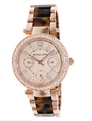 Michael Kors Parker MK5841 Rose Gold Tone Dial Women's Watch