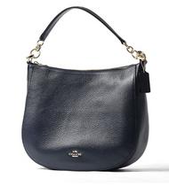 COACH Women's Polished Pebbled Leather Chelsea 32 Hobo Li/Navy One Size 58036-LINAV