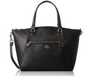 COACH Women's Pebbled Prairie Satchel LI/Black Handbag 58874-LIBLK