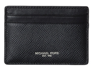 Michael Kors Men's Logo Card Case Wallet Money Clip Black 39F6LHRD2L-001