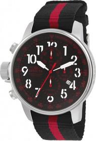 Invicta Men's 22845 I-Force Quartz Multifunction Black, Red Dial Watch