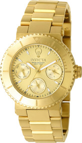 Invicta Women's 22895 Gabrielle Union Quartz Chronograph Gold Dial Watch