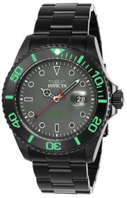 Invicta Men's 23009 Pro Diver Quartz 3 Hand Grey Dial Watch