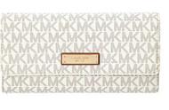 Michael Kors Jet Set PVC Checkbook Wallet 32S7GJSE4B-150