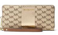 MICHAEL Michael Kors Center Stripe Jet Set Travel Logo Continental Wristlet Wallet, Natural 32S7MIJE4V-270