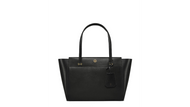 Tory Burch Women's Small Parker Leather Leather Top-Handle Tote - Black/Cardomom 37744-019