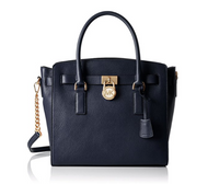 MICHAEL KORS Hamilton Large Leather Satchel Handbag (Admiral) 30S7GHMS7L-414