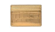 Michael Kors Jet Set Travel Metallic Embossed-Leather - Card Case - Gold - 32F7MF6D0E-710 …