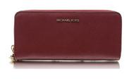 Michael Kors Money Pieces Travel Continental Saffiano Leather (Mulberry) 32S5GTVE9L-666