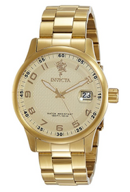 Invicta Men's 17919 Sea Base Quartz 3 Hand Gold Dial Watch