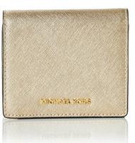 Michael Kors Women's Jet Set Carry All Card Case, Pale Gold 32T6MTVD1M-740