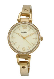 Georgia Glitz Three Hand Stainless Steel Watch Gold-Tone [Watch] Fossil es3227