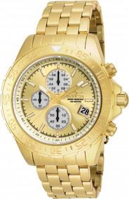 Invicta Men's 18854 Aviator Quartz Multifunction Gold Dial Watch