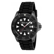 Invicta Men's 'Pro Diver' Quartz Stainless Steel and Silicone Diving Watch, Color:Black (Model: 90305) …