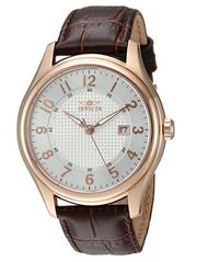 Invicta Men's 23019 Vintage Quartz 3 Hand Silver Dial Watch