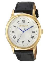 Invicta Men's 23026 Vintage Quartz 3 Hand Silver Dial Watch