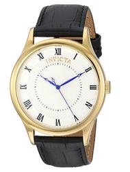 Invicta Men's 23028 Vintage Quartz 3 Hand Silver Dial Watch