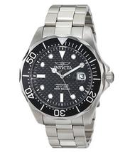 Invicta Men's 12562X Pro Diver Black Carbon Fiber Dial Stainless Steel Watch …