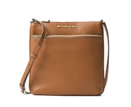 Michael Kors Riley Small Flat Leather Crossbody - Acorn