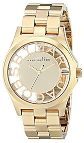 Marc by Marc Jacobs Women's MBM3206 Skeleton Gold-Tone Stainless Steel Bracelet Watch