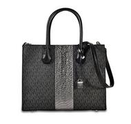 MICHAEL Michael Kors - Mercer Large Convertible Tote (Black) Tote Handbags