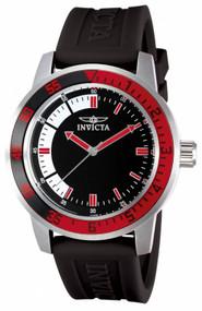 Invicta Men's 12845 Specialty Quartz 3 Hand Black, White Dial Watch
