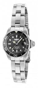 Invicta Women's 14984 Pro Diver Quartz 3 Hand Charcoal Dial Watch