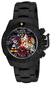 Invicta Women's 24508 Disney Quartz Multifunction Black, Gunmetal, Silver Dial Watch
