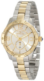 Invicta Women's 10222 Angel Diamond Accented Silver Dial Two Tone Stainless S...