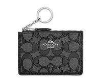 COACH Women's Box Program Signature Mini Skinny Sv/Black Smoke/Black 58040B-SVDK6