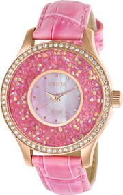 Invicta Women's 24586 Angel Quartz 3 Hand Pink Dial Watch