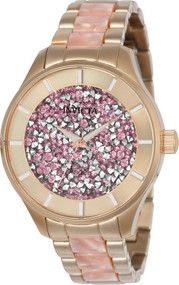 Invicta Women's 24663 Angel Quartz 3 Hand Pink Dial Watch