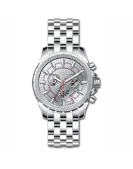 Invicta Men's 7167 Signature Quartz Chronograph Silver Dial Watch