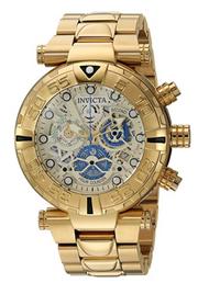 Invicta Men's 24989 Subaqua Quartz Chronograph Gold, Silver Dial Watch