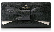 Kate Spade Eden Lane Stacy Wallet, Black/Cement, One Size PWRU4855