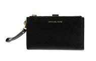 MICHAEL Michael Kors Women's Adele Double Zip Wristlet, Black, One Size  32T7GAFW4L-001