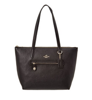 COACH Women's Pebbled Taylor Tote LI/Black Tote 38312-LIBLK