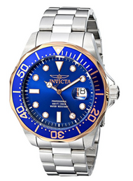 Invicta Men's 17554 Pro Diver Analog Display Swiss Quartz Silver Watch