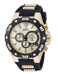 Invicta Men's 'Pro Diver' Quartz Stainless Steel and Silicone Casual Watch, Color:Two Tone (Model: 24682)