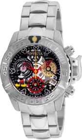 Invicta Women's 24506 Disney Quartz Multifunction Black, Gunmetal, Silver Dial Watch
