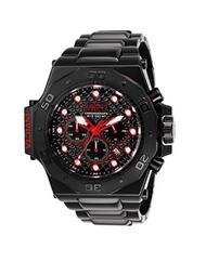 Invicta Men's 25386 Akula Quartz Chronograph Black, Red Dial Watch