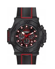 Invicta Men's 25387 Akula Quartz Chronograph Black, Red Dial Watch