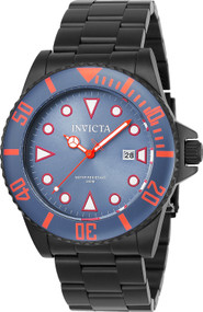 Invicta Men's 90300 Pro Diver Quartz 3 Hand Greyish Blue Dial Watch