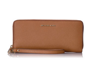 Michael Kors Women's Jet Set Travel Leather Continental Wallet Wristlet - Acorn 32S5GTVE9L-532