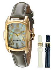 Invicta Lady Baby Lupah Interchangeable Set – Gold Plated – Mother of Pearl Dial - (Model 20457) …