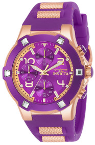 Invicta Women's 24195 BLU Quartz Multifunction Purple Dial Watch