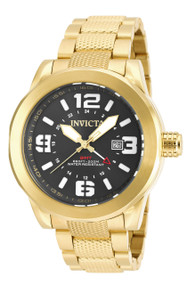 Invicta Men's 90276 Coalition Forces Quartz 3 Hand Black Dial Watch