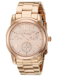 Invicta Angel Lady 38mm Stainless Steel Rose Gold Dial VH68 Quartz Watch …