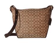 COACH Women's Dufflette in Signature Li/Khaki/Brown One Size 25698-LIC7C